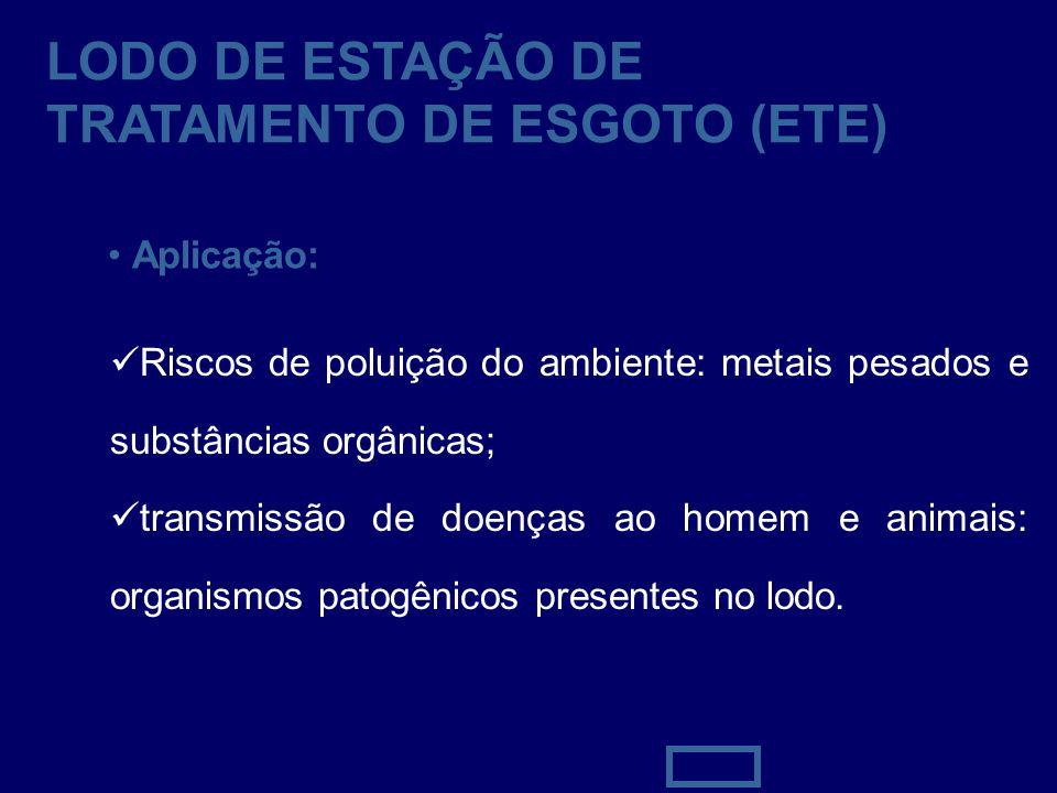 LODO DE ESTAÇÃO DE TRATAMENTO DE ESGOTO (ETE)