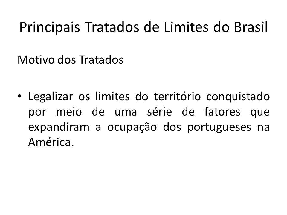 Principais Tratados de Limites do Brasil