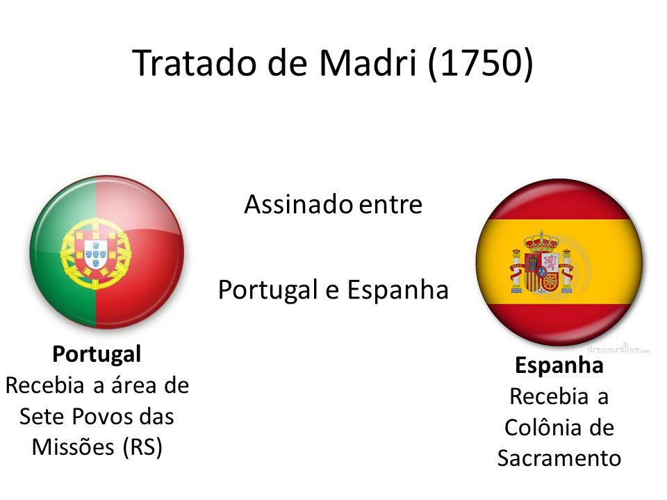 Tratado de Madri (1750) Assinado entre Portugal e Espanha Portugal