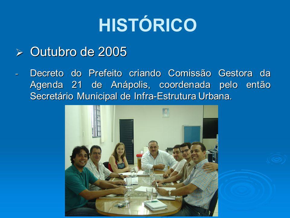 HISTÓRICO Outubro de 2005.