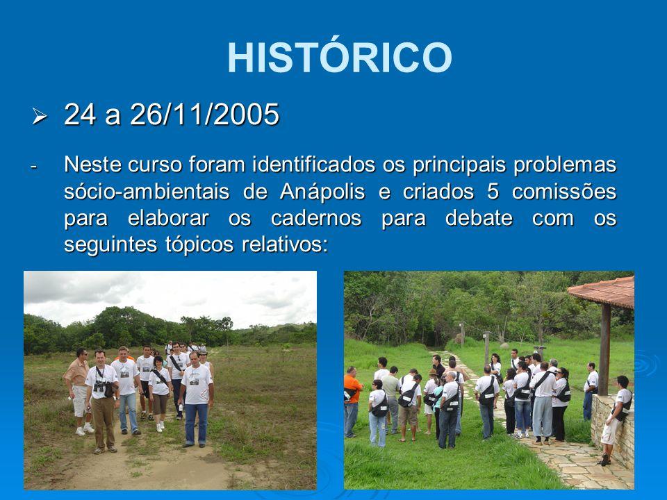 HISTÓRICO 24 a 26/11/2005.