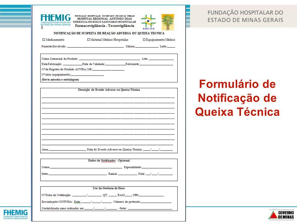Formulário de Notificação de Queixa Técnica