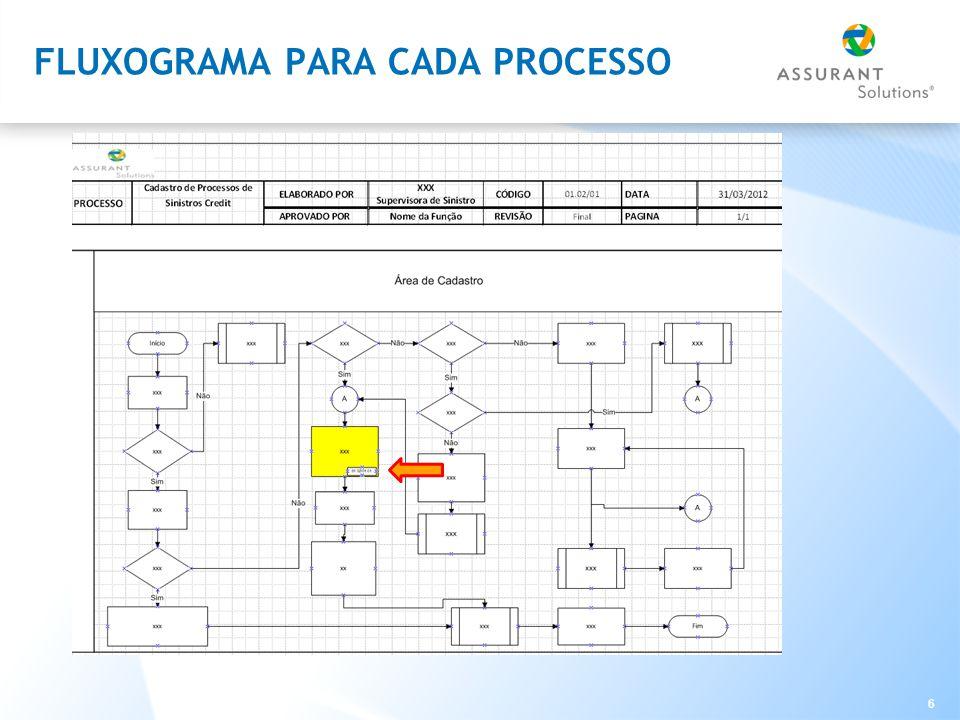 FLUXOGRAMA PARA CADA PROCESSO