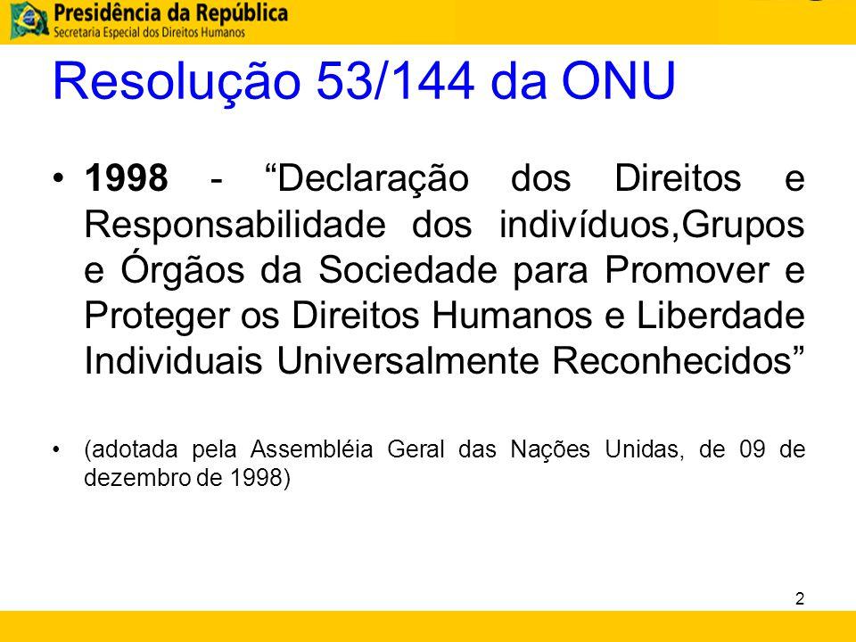 Resolução 53/144 da ONU