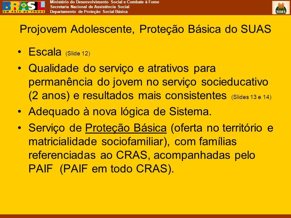 Projovem Adolescente, Proteção Básica do SUAS