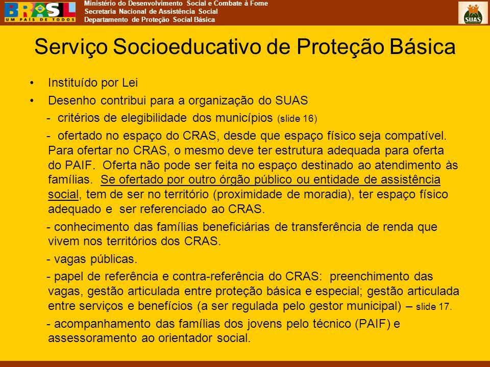 Serviço Socioeducativo de Proteção Básica