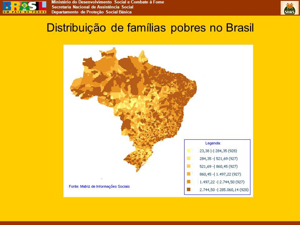 Distribuição de famílias pobres no Brasil