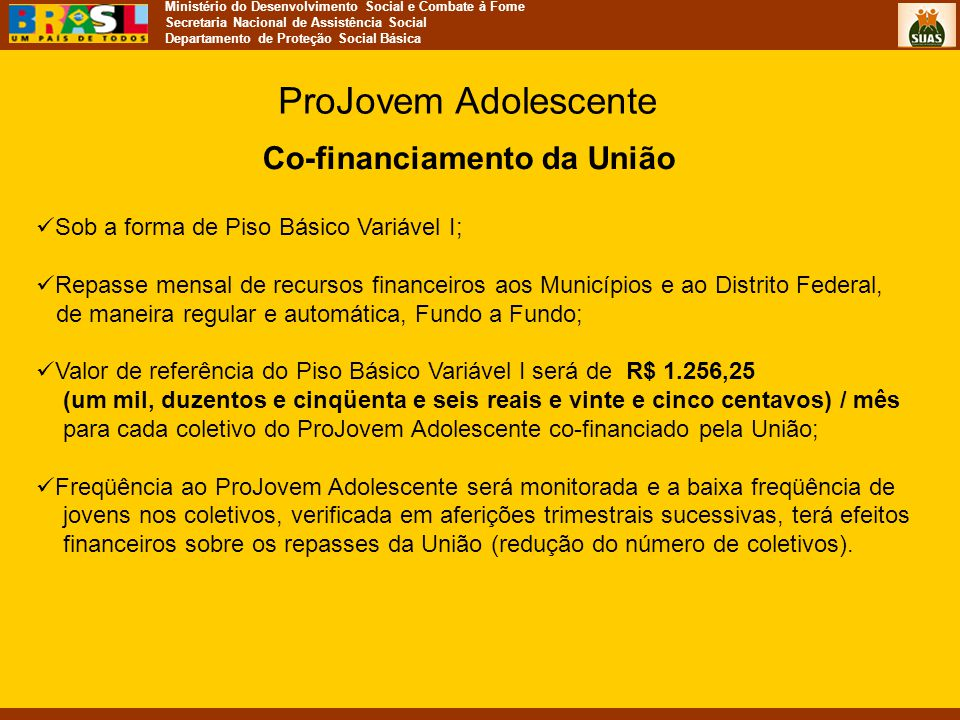 Co-financiamento da União