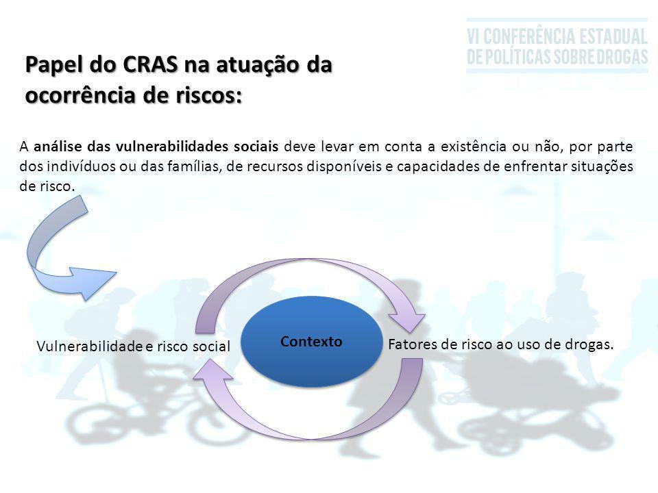 Papel do CRAS na atuação da ocorrência de riscos: