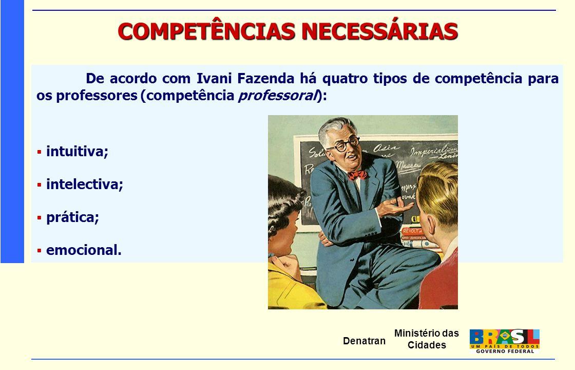 COMPETÊNCIAS NECESSÁRIAS