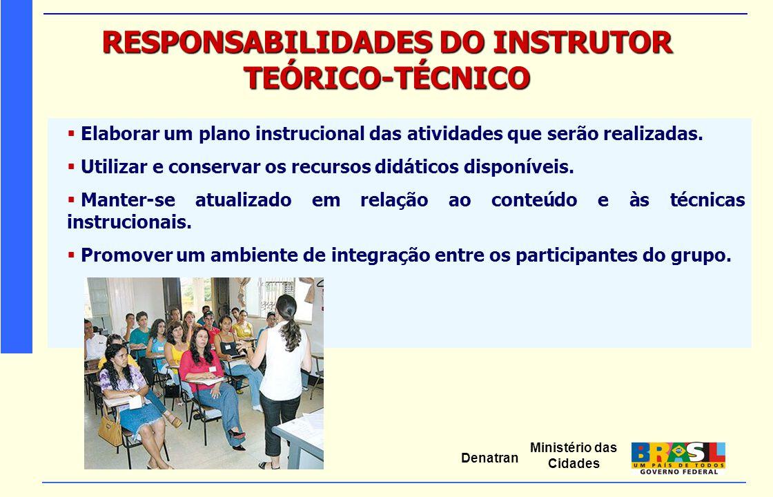 RESPONSABILIDADES DO INSTRUTOR TEÓRICO-TÉCNICO