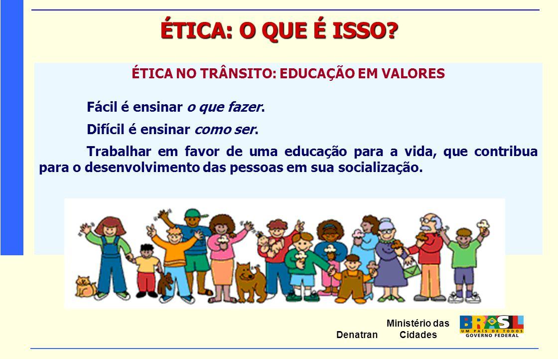 ÉTICA NO TRÂNSITO: EDUCAÇÃO EM VALORES