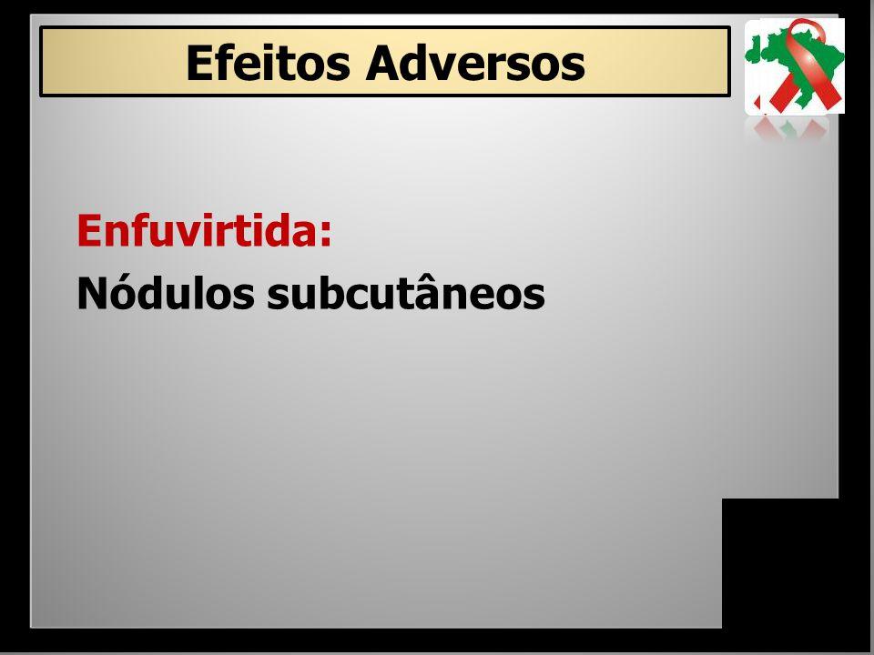 Efeitos Adversos Enfuvirtida: Nódulos subcutâneos 25