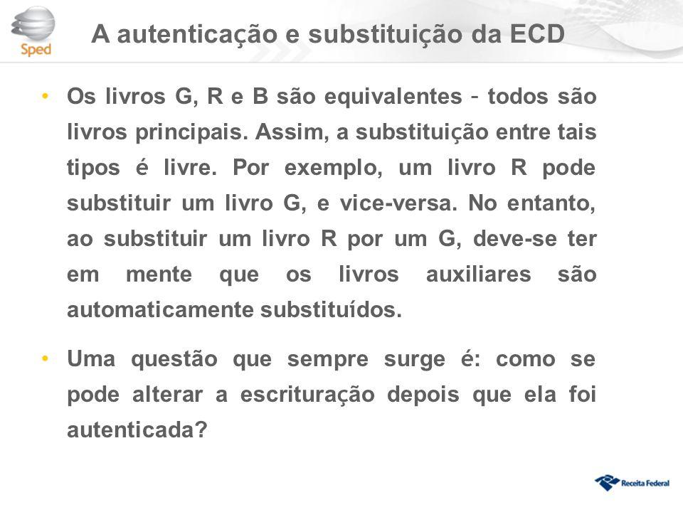 A autenticação e substituição da ECD