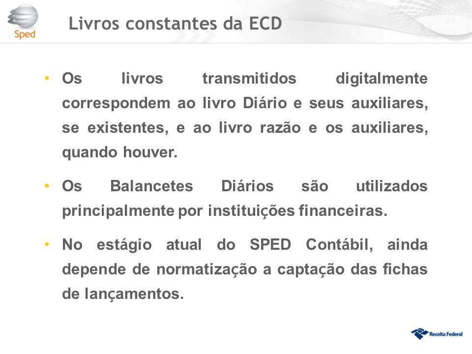 Livros constantes da ECD