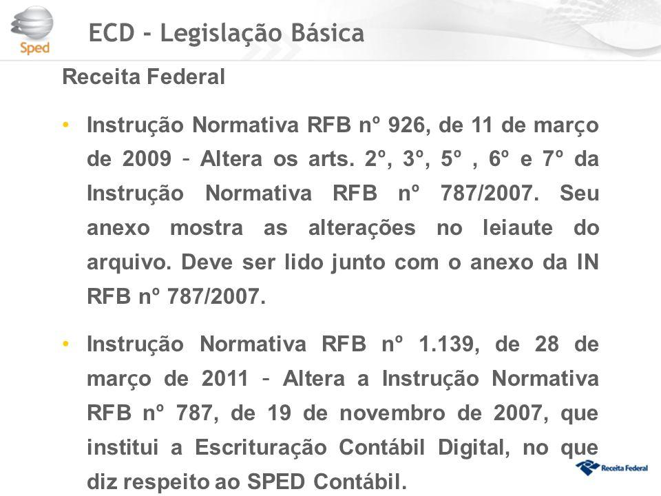 ECD - Legislação Básica