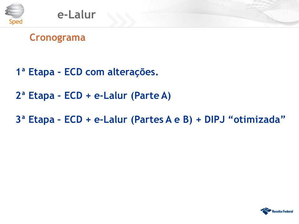 e-Lalur Cronograma 1ª Etapa - ECD com alterações.
