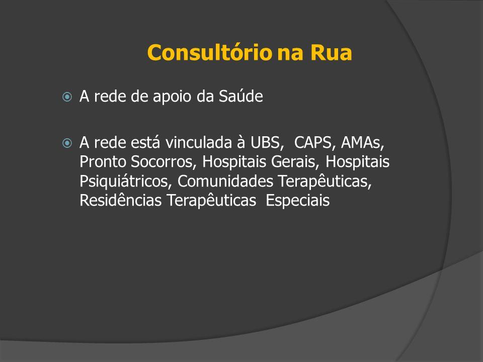 Consultório na Rua A rede de apoio da Saúde