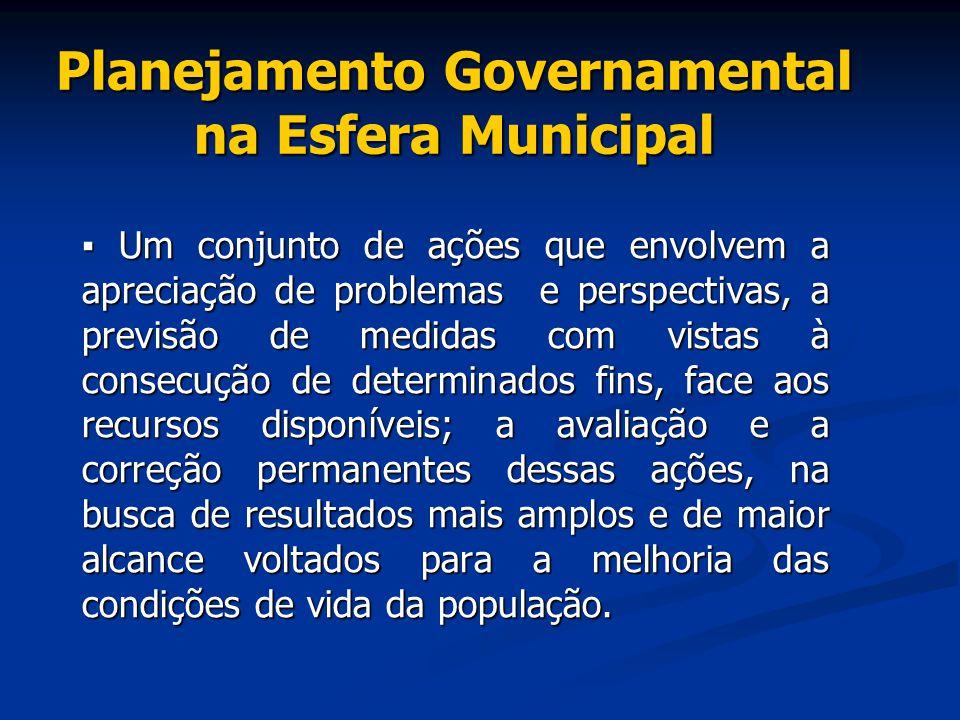 Planejamento Governamental na Esfera Municipal
