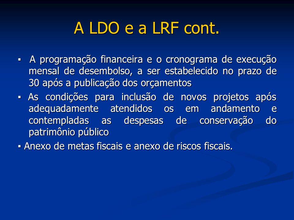 A LDO e a LRF cont.
