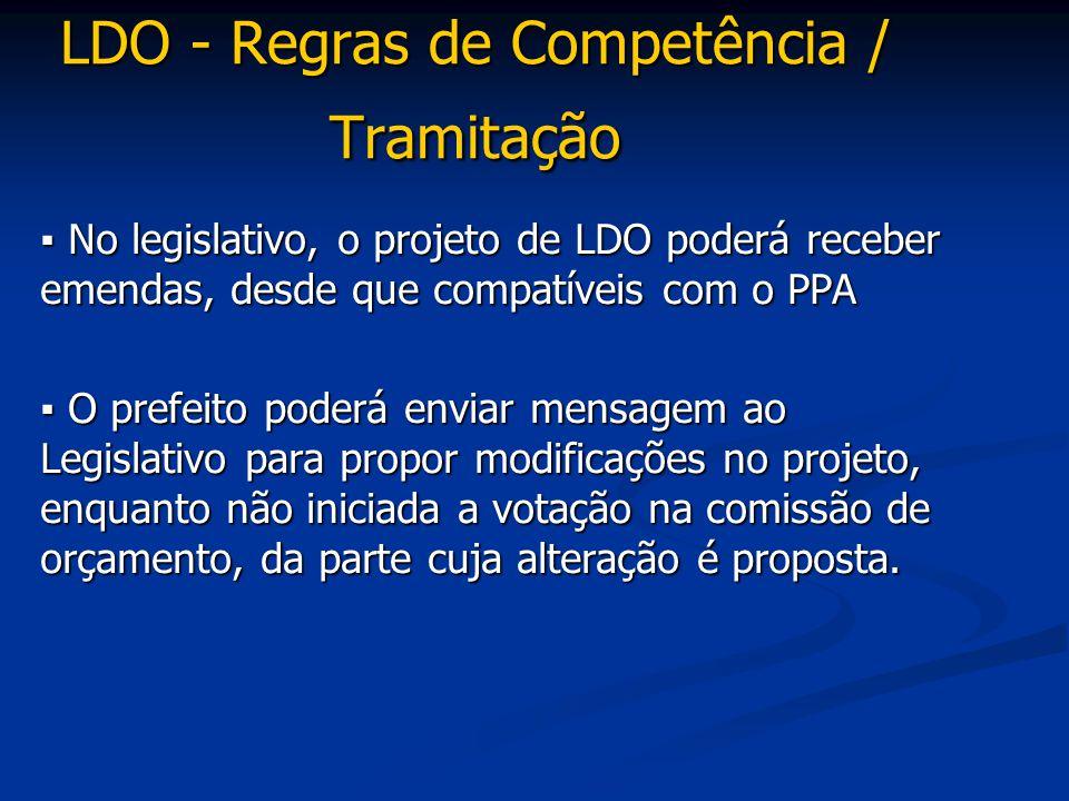 LDO - Regras de Competência / Tramitação