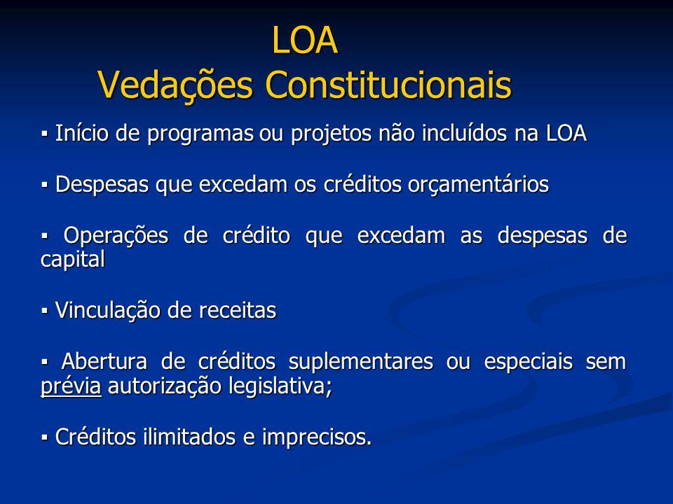 LOA Vedações Constitucionais