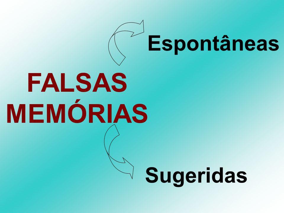 Espontâneas FALSAS MEMÓRIAS Sugeridas