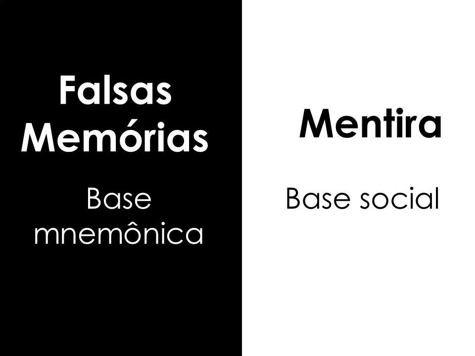 Falsas Memórias Mentira