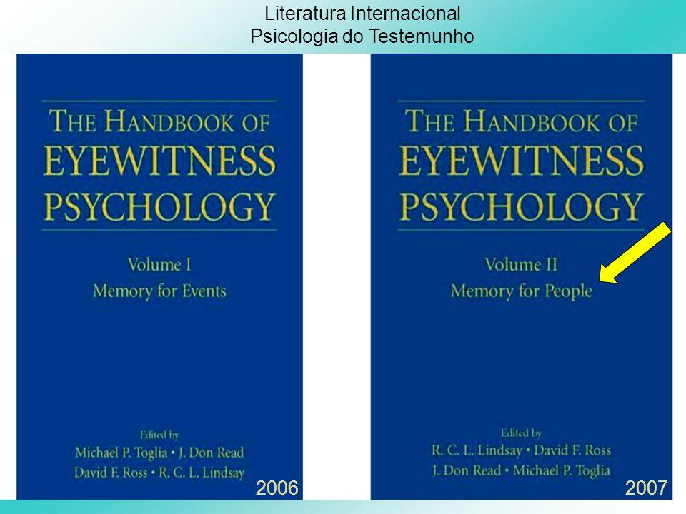 Literatura Internacional Psicologia do Testemunho