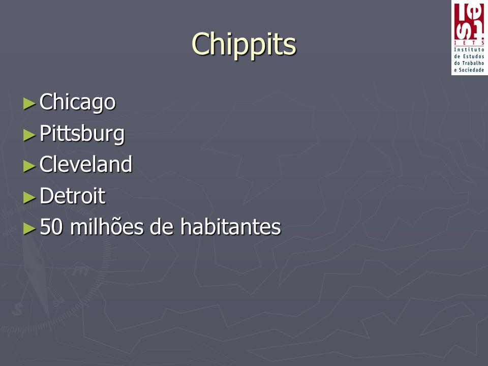 Chippits Chicago Pittsburg Cleveland Detroit 50 milhões de habitantes