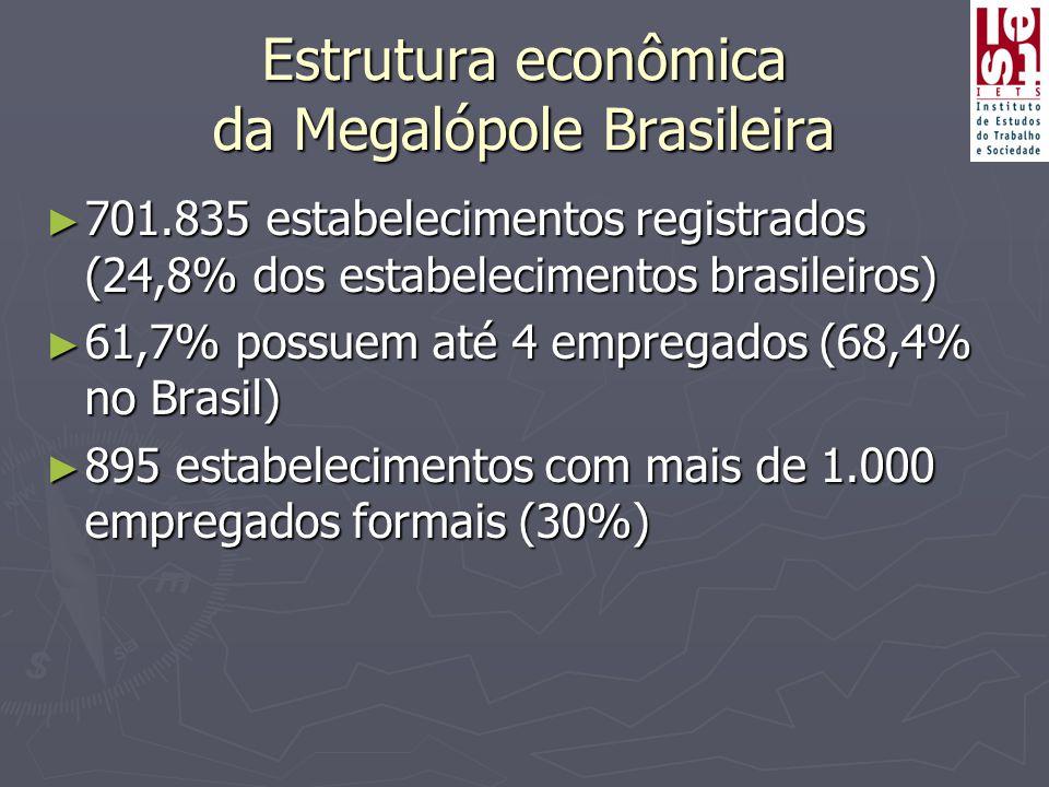 Estrutura econômica da Megalópole Brasileira