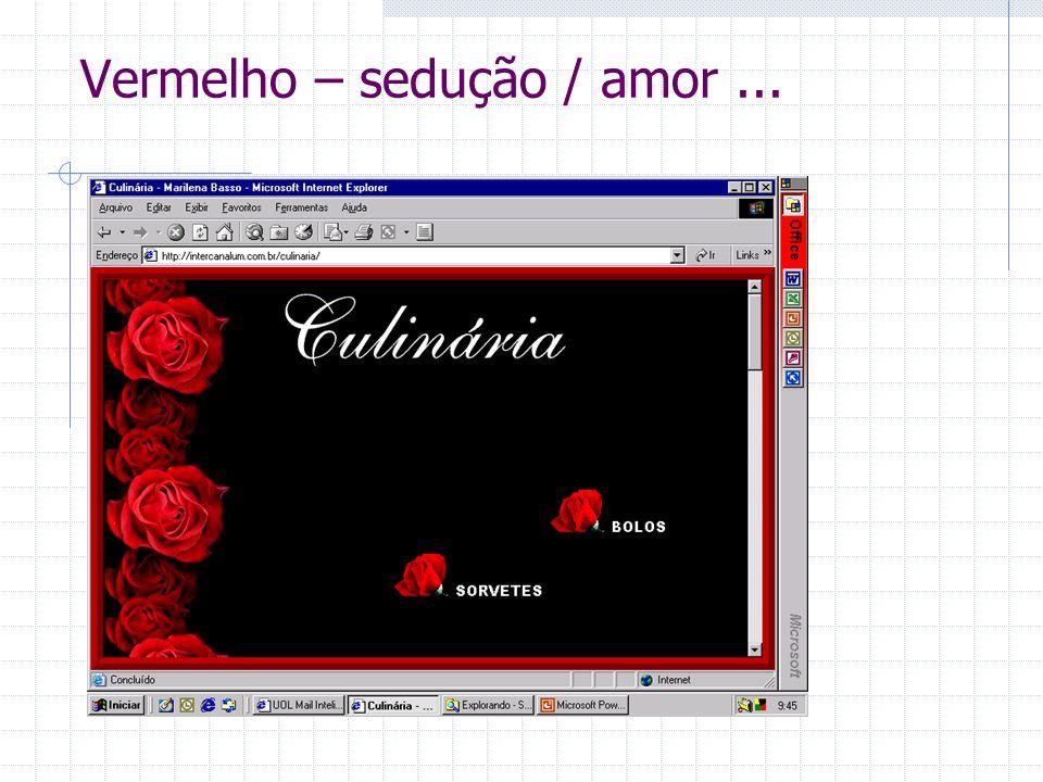 Vermelho – sedução / amor ...
