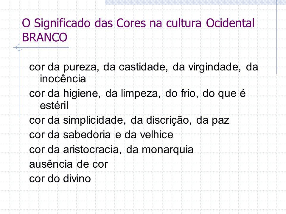 O Significado das Cores na cultura Ocidental BRANCO