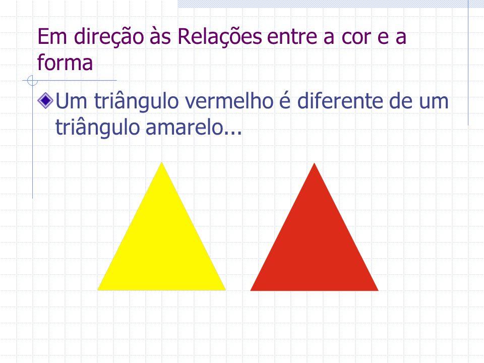 Em direção às Relações entre a cor e a forma