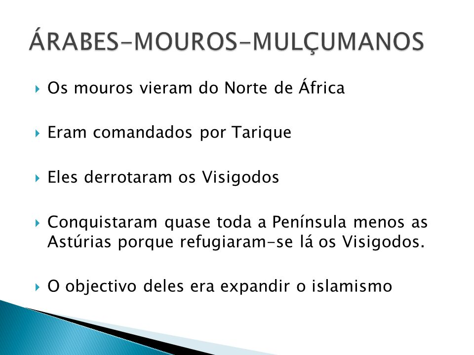 ÁRABES-MOUROS-MULÇUMANOS