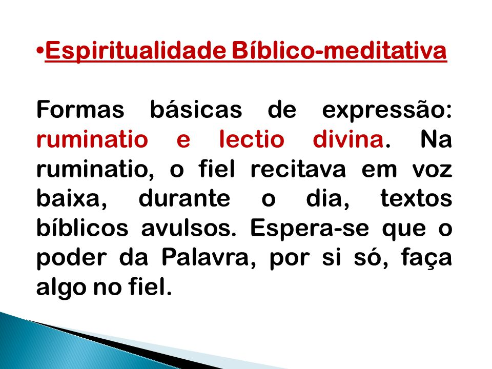 Espiritualidade Bíblico-meditativa