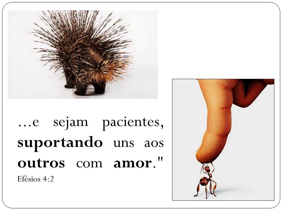 ...e sejam pacientes, suportando uns aos outros com amor. Efésios 4:2