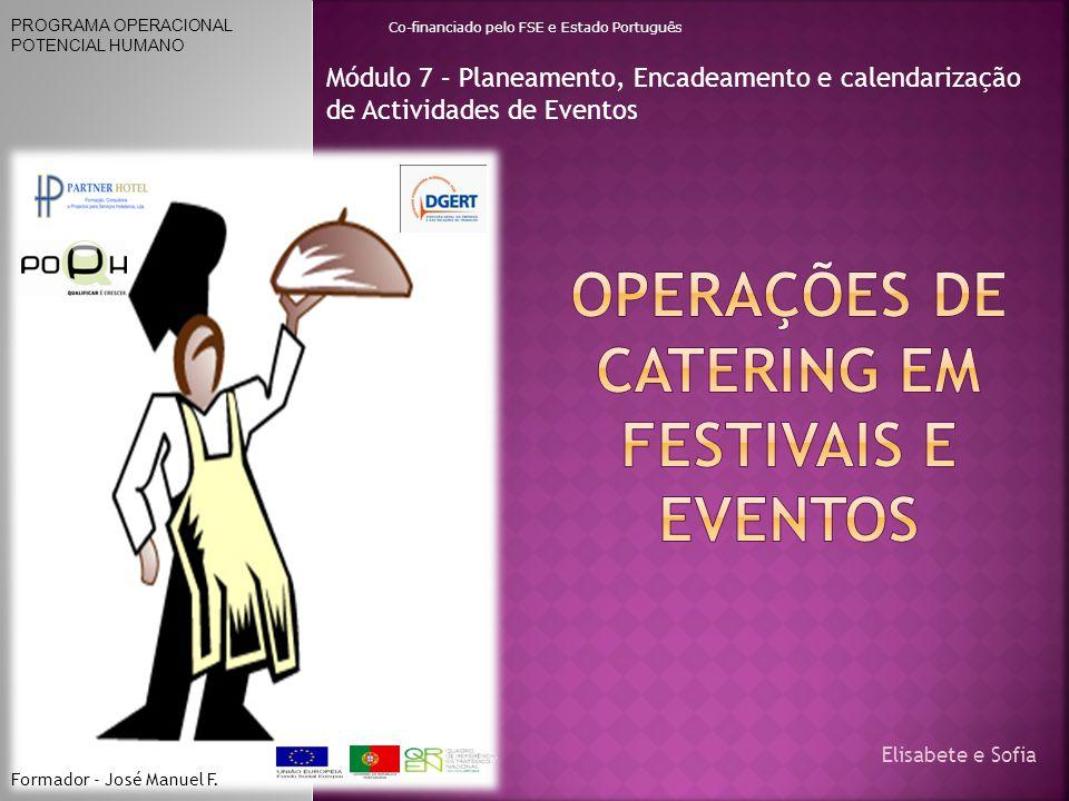 Operações de catering em Festivais e Eventos