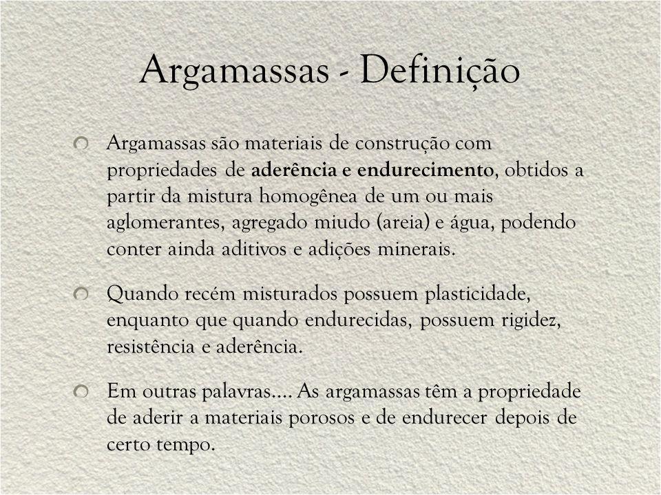 Argamassas - Definição