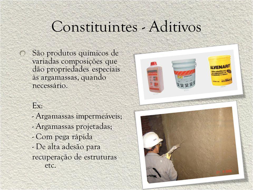 Constituintes - Aditivos