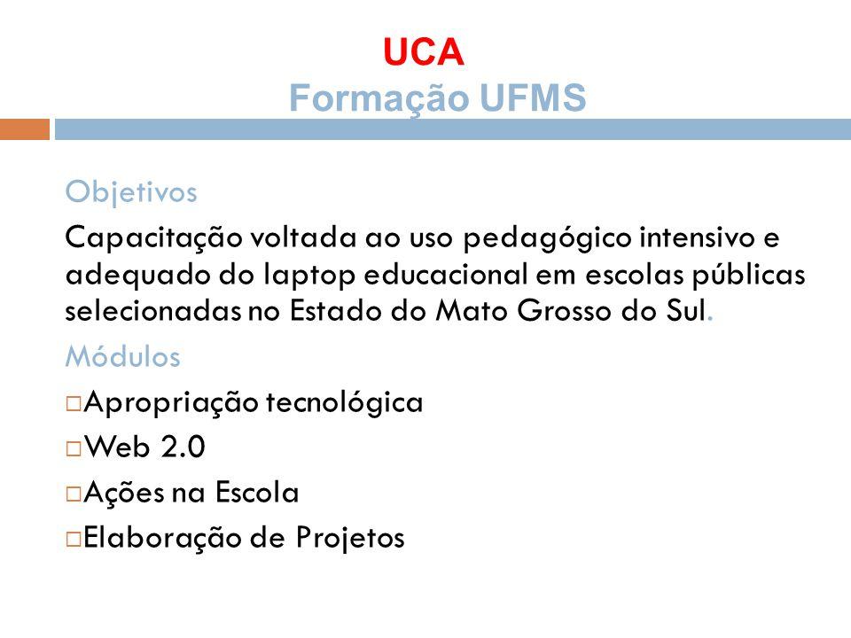 UCA Formação UFMS Objetivos