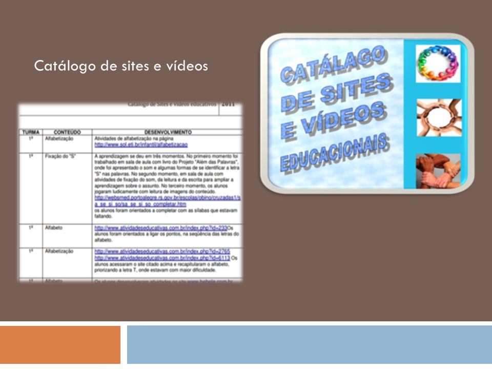 Catálogo de sites e vídeos