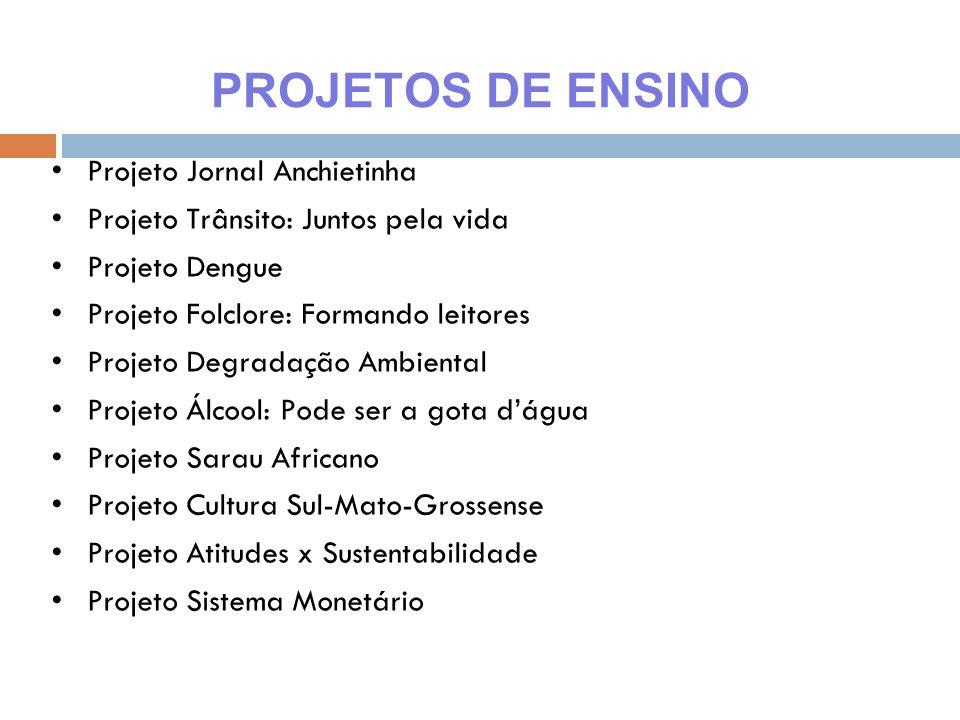 PROJETOS DE ENSINO Projeto Jornal Anchietinha