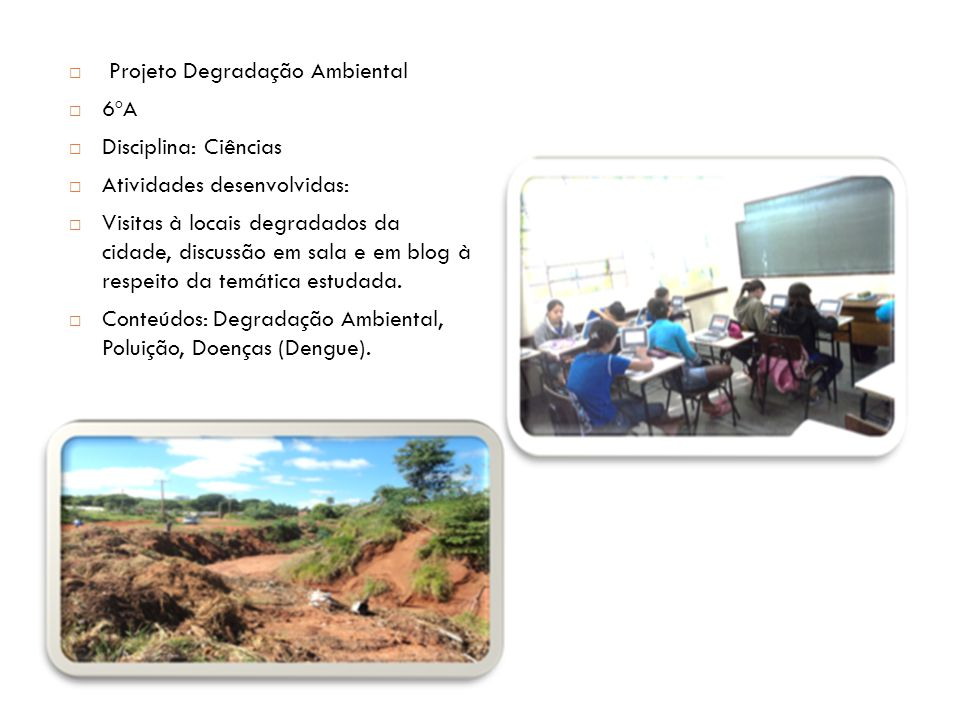 Projeto Degradação Ambiental