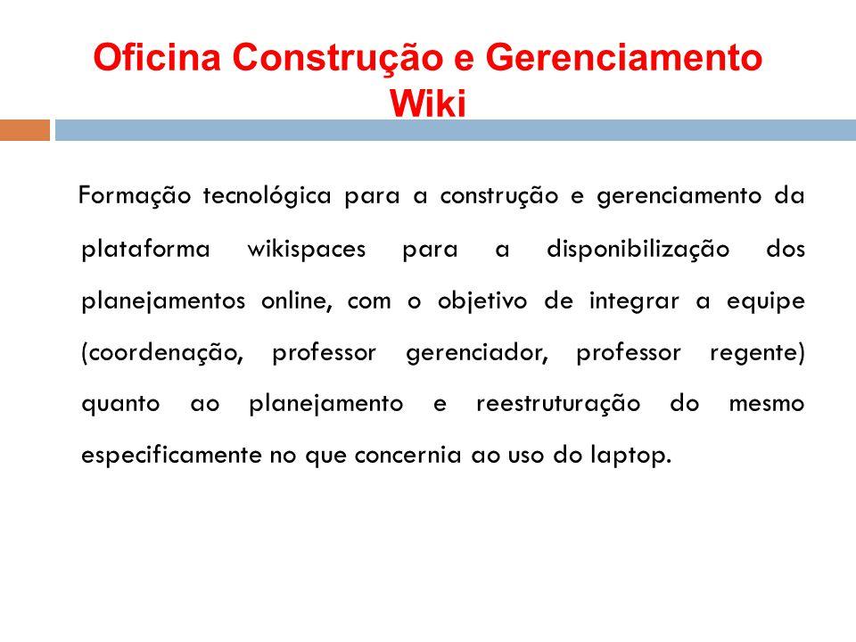 Oficina Construção e Gerenciamento Wiki
