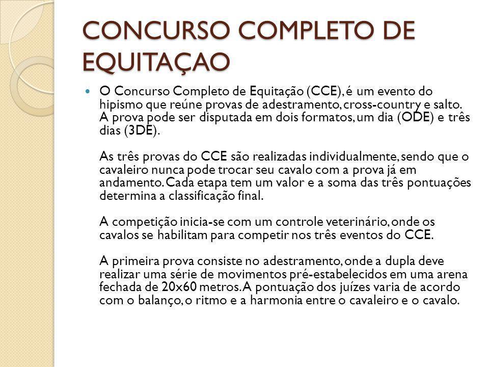 CONCURSO COMPLETO DE EQUITAÇAO