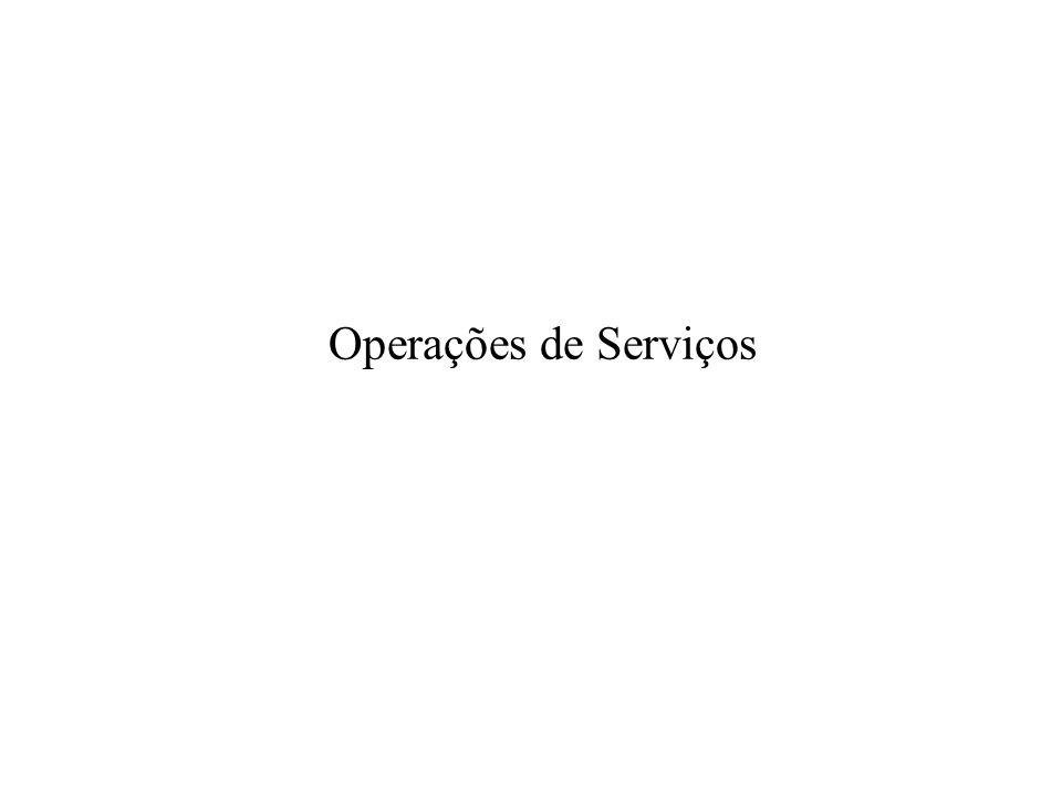 Operações de Serviços