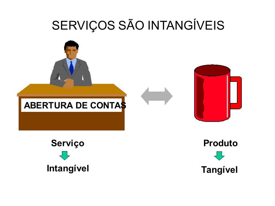 SERVIÇOS SÃO INTANGÍVEIS