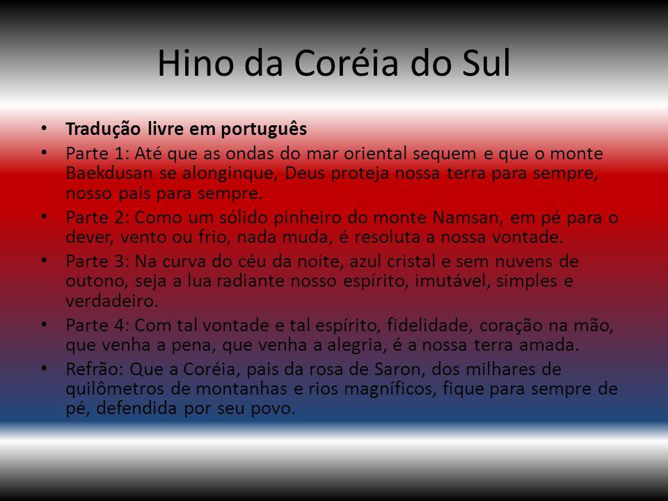 Hino da Coréia do Sul Tradução livre em português