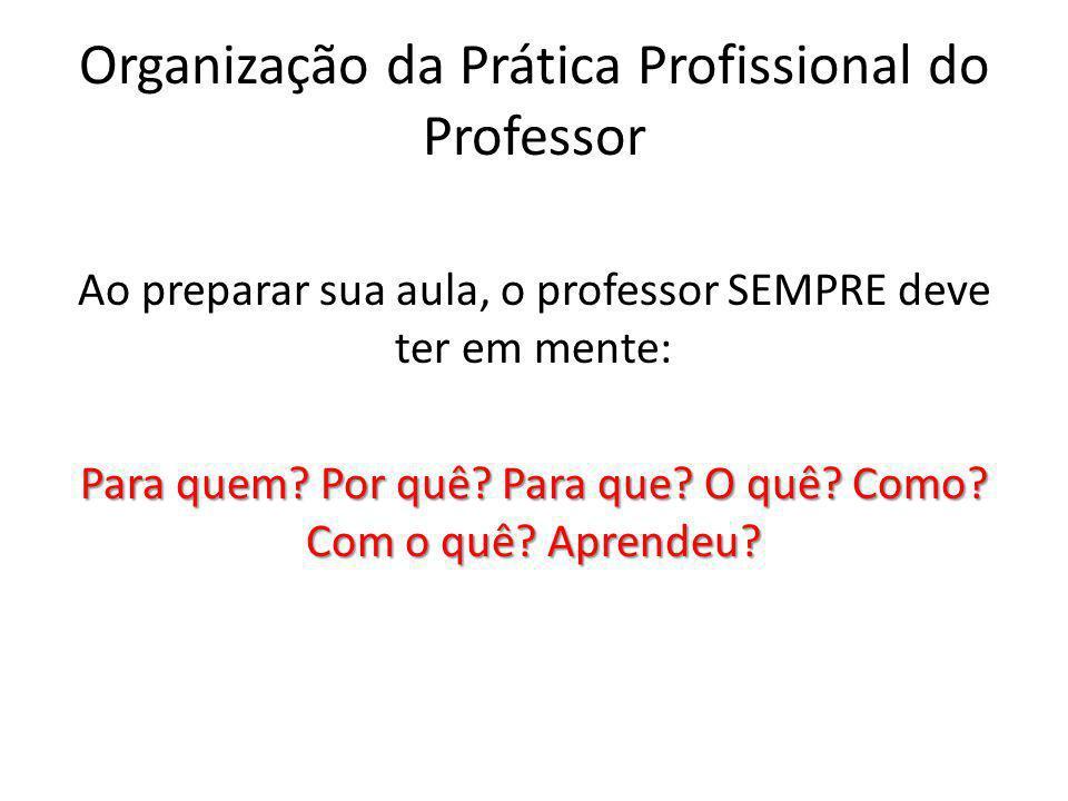 Organização da Prática Profissional do Professor